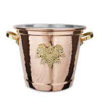 Ведро медное для охлаждения винных бутылок 20 см, RUFFONI Historia decor, 3340