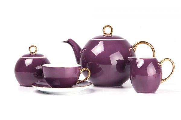 Чайный сервиз Tunisie Porcelaine Monalisa 15 предметов цвет фиолетовый 559511 3124