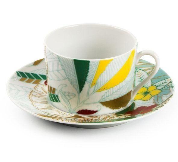 Чашка чайная Tunisie Porcelaine Остров 220 мл с блюдцем 5303522 2370