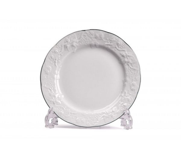 Набор тарелок обеденных Tunisie Porcelaine Vendange Filet Platine 6 шт 26 см 69 0126