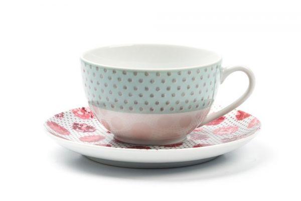 Чайная пара Tunisie Porcelaine Isis «Малина» 613520 2255