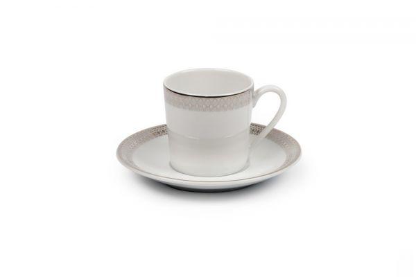 Кофейная пара Tunisie Porcelaine Fast Platine 110 мл 5303512 1753