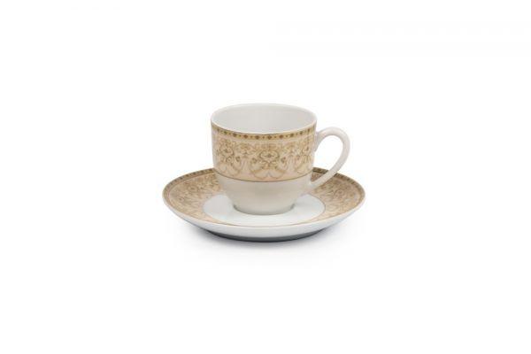 Кофейная пара Tunisie Porcelaine Tiffany Or 10 см 6103510 1785
