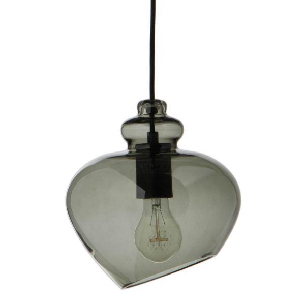 Лампа подвесная Grace, ?23 см, зеленое дымчатое стекло, черный цоколь Frandsen 1172_3350505001