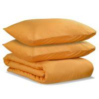 Комплект постельного белья двуспальный из сатина цвета шафрана из коллекции wild TK20-DC0037