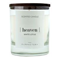 Свеча ароматическая the olphactory heaven black Белый лотос 40 ч VV401WLBTO