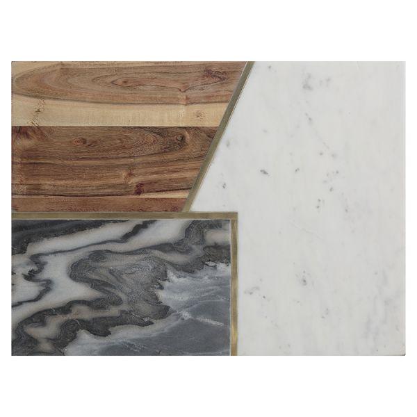 Доска сервировочная elements из мрамора, камня и акации 40х30 см 1401.047V
