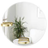 Зеркало с полочками perch 60 см латунь 1015728-104