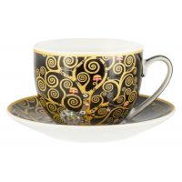 Чашка с блюдцем Древо жизни (Г.Климт),  0,26 л Carmani CAR2-532-8213