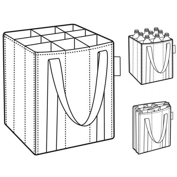 Сумка-органайзер для бутылок Bottlebag mixed dots ZJ7051