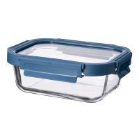Контейнер для еды стеклянный 370 мл темно-синий ID370RC_7708C