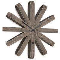 Часы настенные Ribbonwood большие состаренный орех 118071-746
