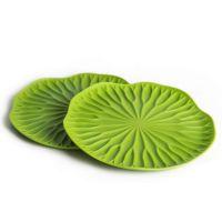 Подставки под бокалы Lotus 2 шт цвет зеленый QL10165-GN