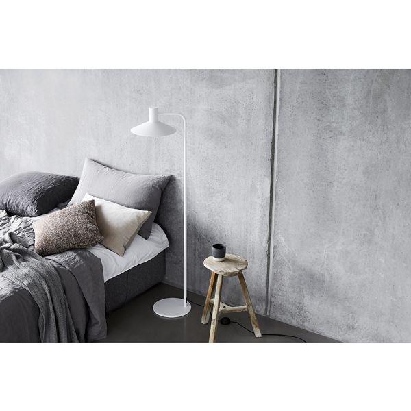 Лампа напольная minneapolis диаметр 27,5 см, белая матовая 69016406
