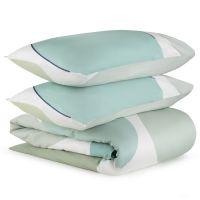 Комплект постельного белья из сатина мятного цвета с авторским принтом из коллекции freak fruit TK20-DC0046