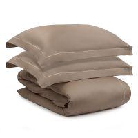 Комплект постельного белья из египетского хлопка essential, бежевый, евро размер TK20-BL0002