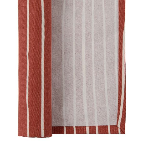 Салфетка сервировочная из хлопка терракотового цвета с принтом Полоски из коллекции prairie TK20-NA0006