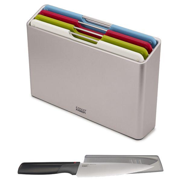 Набор разделочных досок folio regular серебристый с ножом 98995
