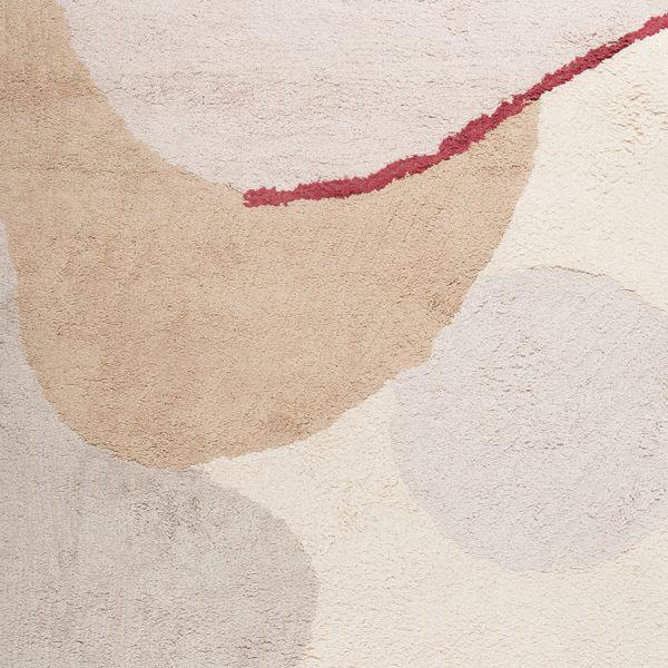 Ковер из хлопка бежевого цвета с авторским принтом из коллекции freak fruit, 160х230 см TK20-DR0027