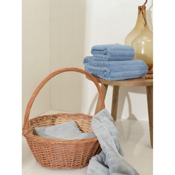Полотенце для рук waves джинсово-синего цвета из коллекции essential, 50х90 см TK21-HT0005
