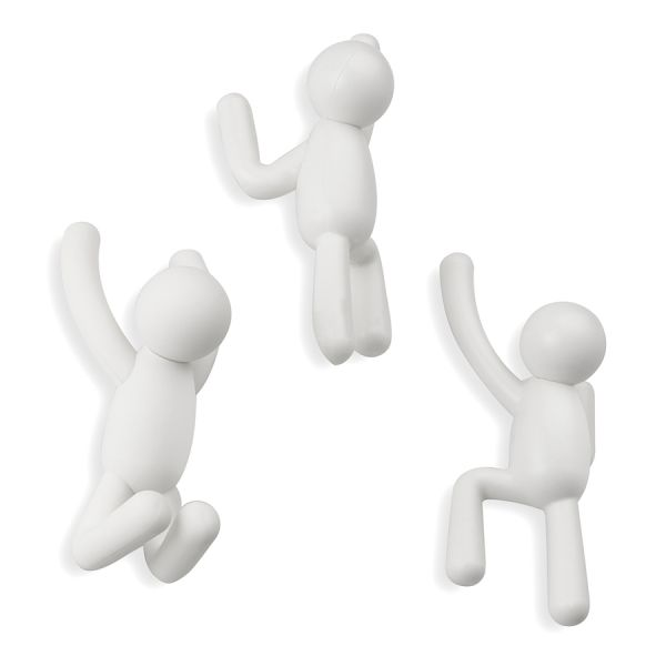 Вешалки-крючки Buddy 3 шт белые 318165-660