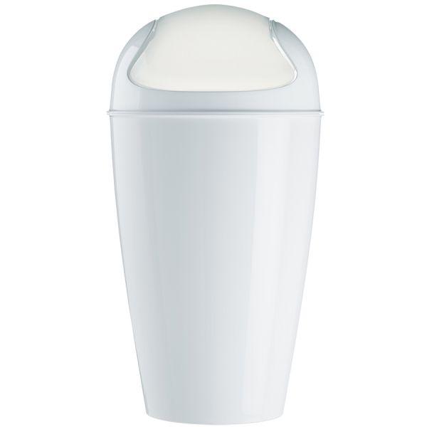 Корзина для мусора с крышкой del xl 30 л белая 5773525