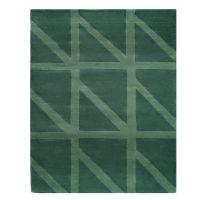 Ковер шерстяной ручной работы geometric dance зеленого цвета, 160х230 см TK18-CA0001