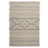 Ковер из хлопка, шерсти и джута с геометрическим орнаментом из коллекции ethnic, 70х160 см TK20-DR0010