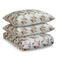 Комплект постельного белья двуспальный из сатина с принтом birds of nile из коллекции wild TK20-DC0021