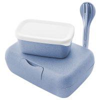 Набор из 2 ланч-боксов и столовых приборов candy ready organic синий 3272671