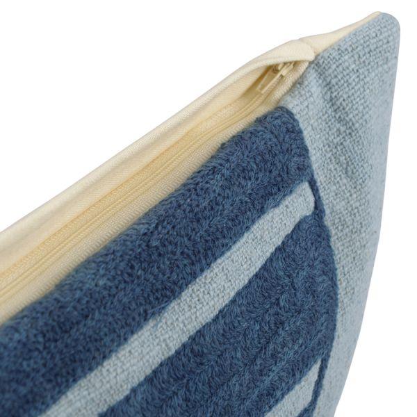 Чехол на подушку с геометрическим принтом и бахромой из коллекции ethnic, 45х45 см