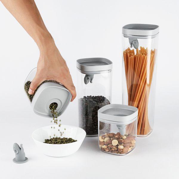 Набор кухонных емкостей lucky mouse QL10348-CL-GY