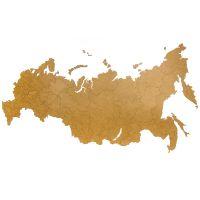 Карта-пазл Wall Decoration 'Российская Федерация, 98х53 см коричневая 19-24