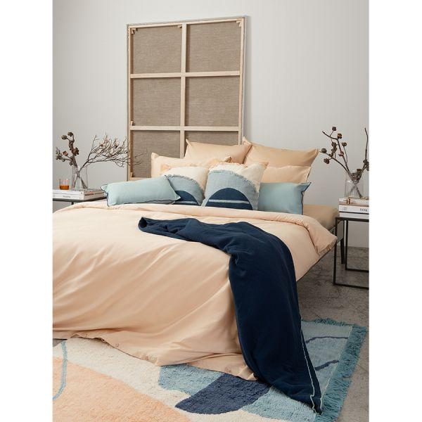 Комплект постельного белья двуспальный из сатина бежево-розового цвета из коллекции essential TK20-DC0048