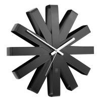 Часы настенные Ribbon чёрныe 118070-040