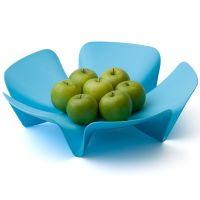 Ваза для фруктов Flower голубая QL10041-BU