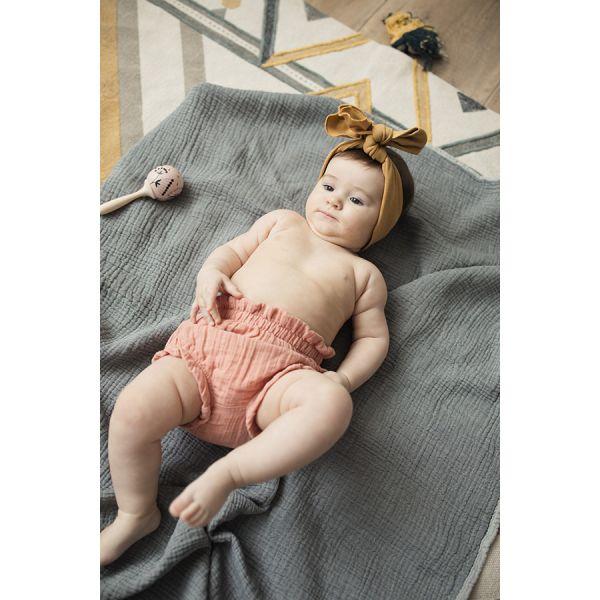 Шорты для новорожденных из хлопкового муслина цвета пыльной розы из коллекции essential 6-9m TK20-KIDS-SHB0008