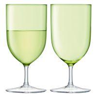Набор бокалов для воды и вина Hint 2 шт 400 мл цвет зелёный G939-14-628