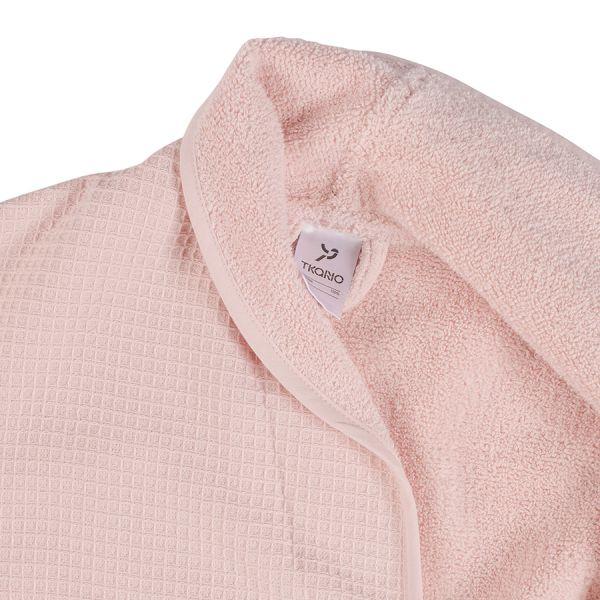 Халат банный из чесаного хлопка цвета пыльной розы из коллекции essential