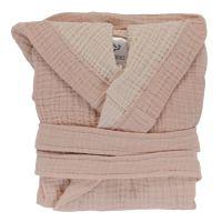 Халат из жатого хлопка цвета пыльной розы из коллекции essential 24-36m TK20-KIDS-BHR0010