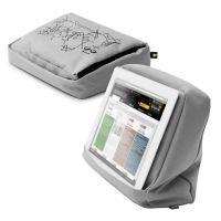 Подушка-подставка для планшета Hitech 2 с карманом серебристая, черная 262897