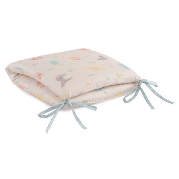 Бортик в кроватку из сатина с принтом animalia world из коллекции tiny world, 360х35х5 см TK20-KIDS-BUM0001