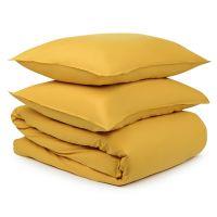 Комплект постельного белья горчичного цвета из органического стираного хлопка из коллекции essential TK20-BLI0009