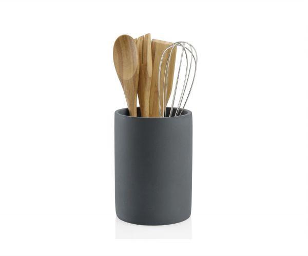 Органайзер с кухонными принадлежностями Stone Grey and Wood ANDREA HOUSE CC17160