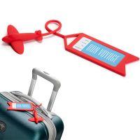 Бирка для багажа tag me красная OT811
