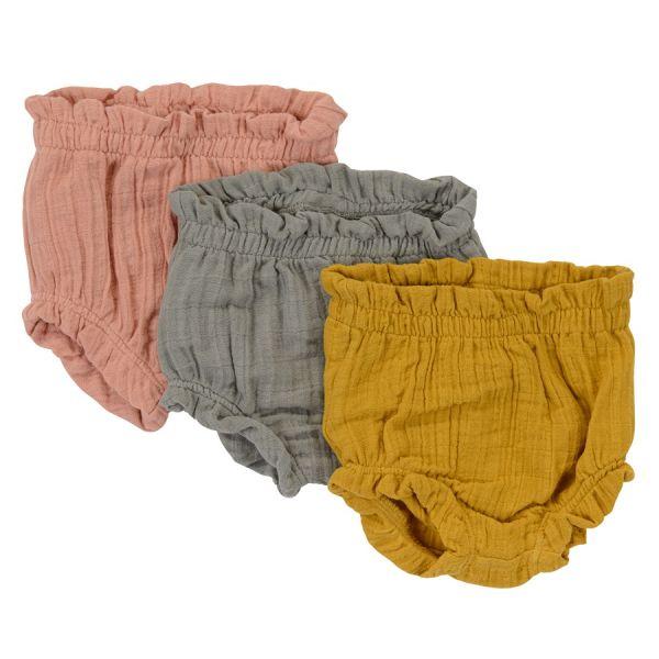 Шорты для новорожденных из хлопкового муслина серого цвета из коллекции essential 3-6m TK20-KIDS-SHB0004