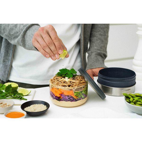 Ланч-бокс glass lunch bowl серый 750 мл GR-LB-L015