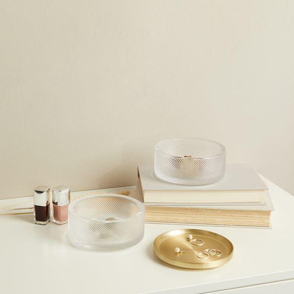 Шкатулка для украшений tesora стекло-латунь 1013238-104