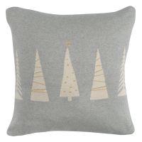 Чехол на подушку вязаный с новогодним рисунком christmas tree из коллекции new year essential, 45х45 см TK20-CC0004