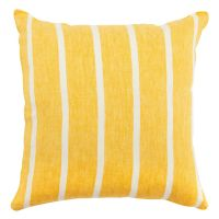 Чехол на подушку декоративный в полоску горчичного цвета из коллекции essential, 45х45 см TK21-CC0003